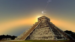 2012 alignment prophecies on mayan pyramid